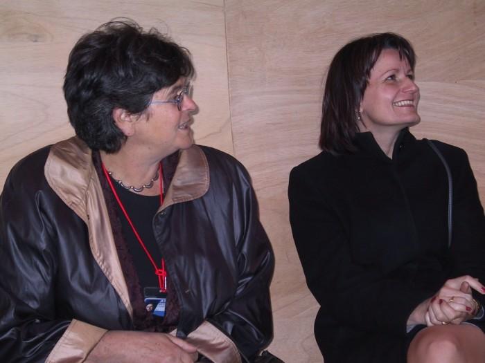 Avec Mme la Conseillère fédérale Ruth Dreifuss en visite à l'Expo nationale en 2002 à Bienne